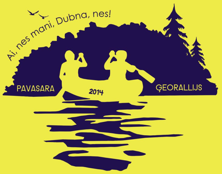 Pavasara ģeorallijs Dubna 2014: Ai, nes mani, Dubna, nes, līdz apturēs Līvānu HES!